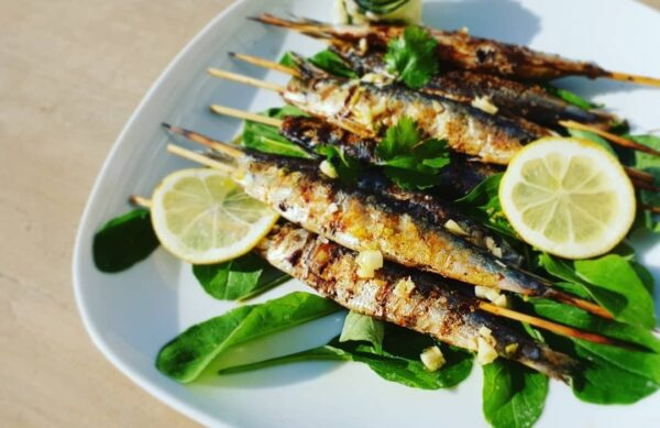 Sardines Grilled Traditional food