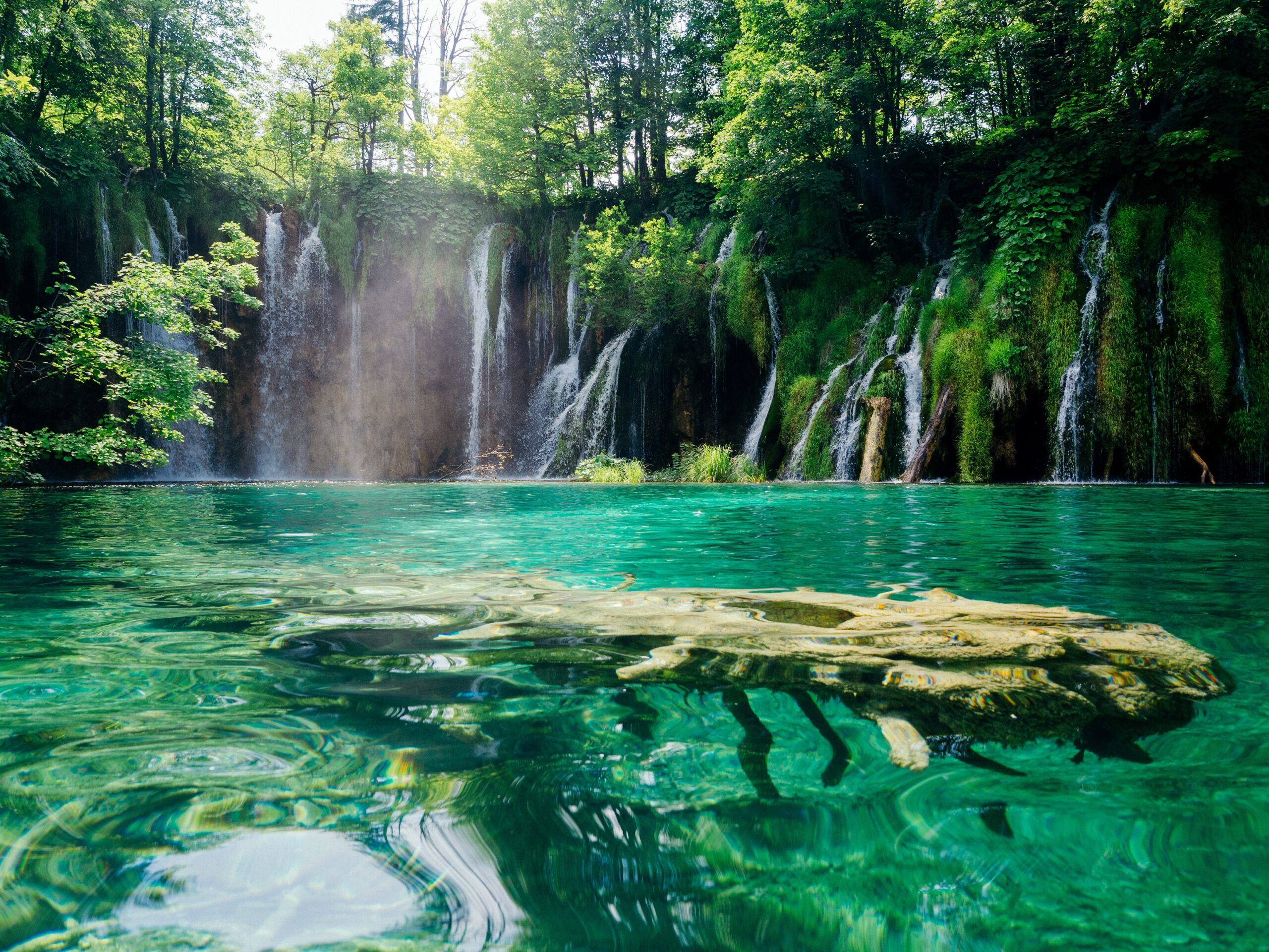 Crystal Green water to refresh your mind